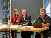 V.l.: Dr. Verena Hammes, Geschäftsführerin der ACK, mit den Gästen Dr. Reinhardt Schink, Generalsekretär der Deutschen Evangelischen Allianz (DEA), und Ekkehart Vetter (1. Vorsitzender DEA)