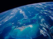 Aufnahme aus dem All vom Atlantik in der Bahamas-Region. © Nasa