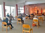 Gottesdienst der Heilsarmee in Berlin unter Einhaltung der Covid-19-Schutzauflagen.