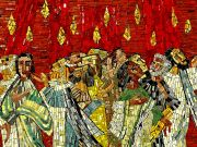 Mosaik aus der Evangelischen Kirchengemeinde Trier: Herabkunft des Heiligen Geistes zu Pfingsten